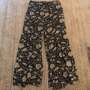 Soft Floral Flare Pants